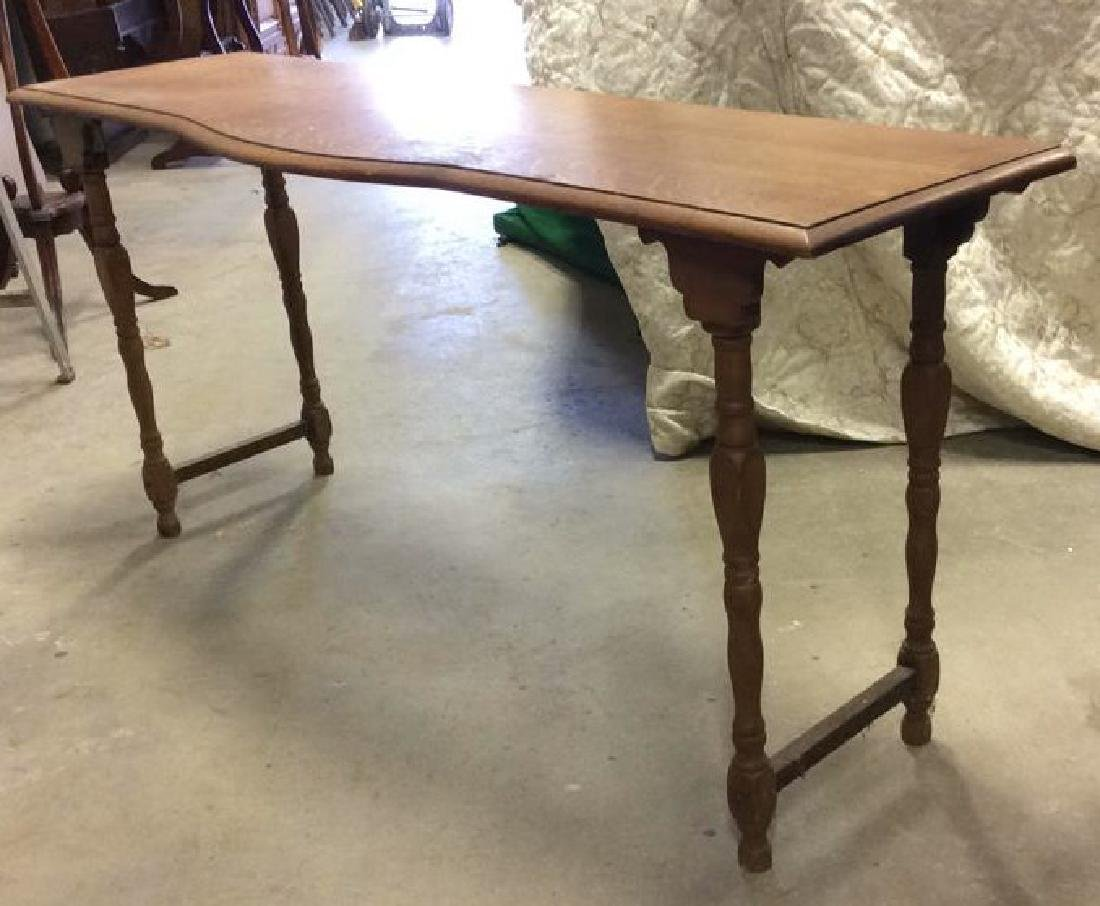 Vintage Carved Wooden Low Console Table - 4