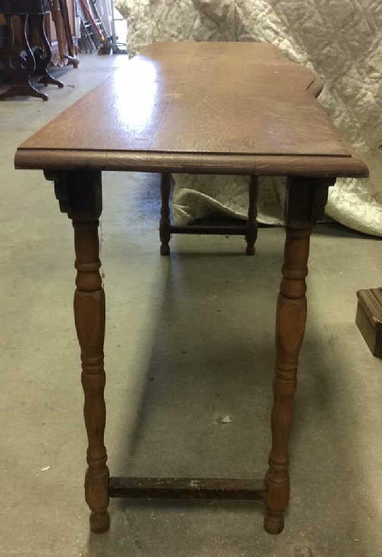 Vintage Carved Wooden Low Console Table - 6