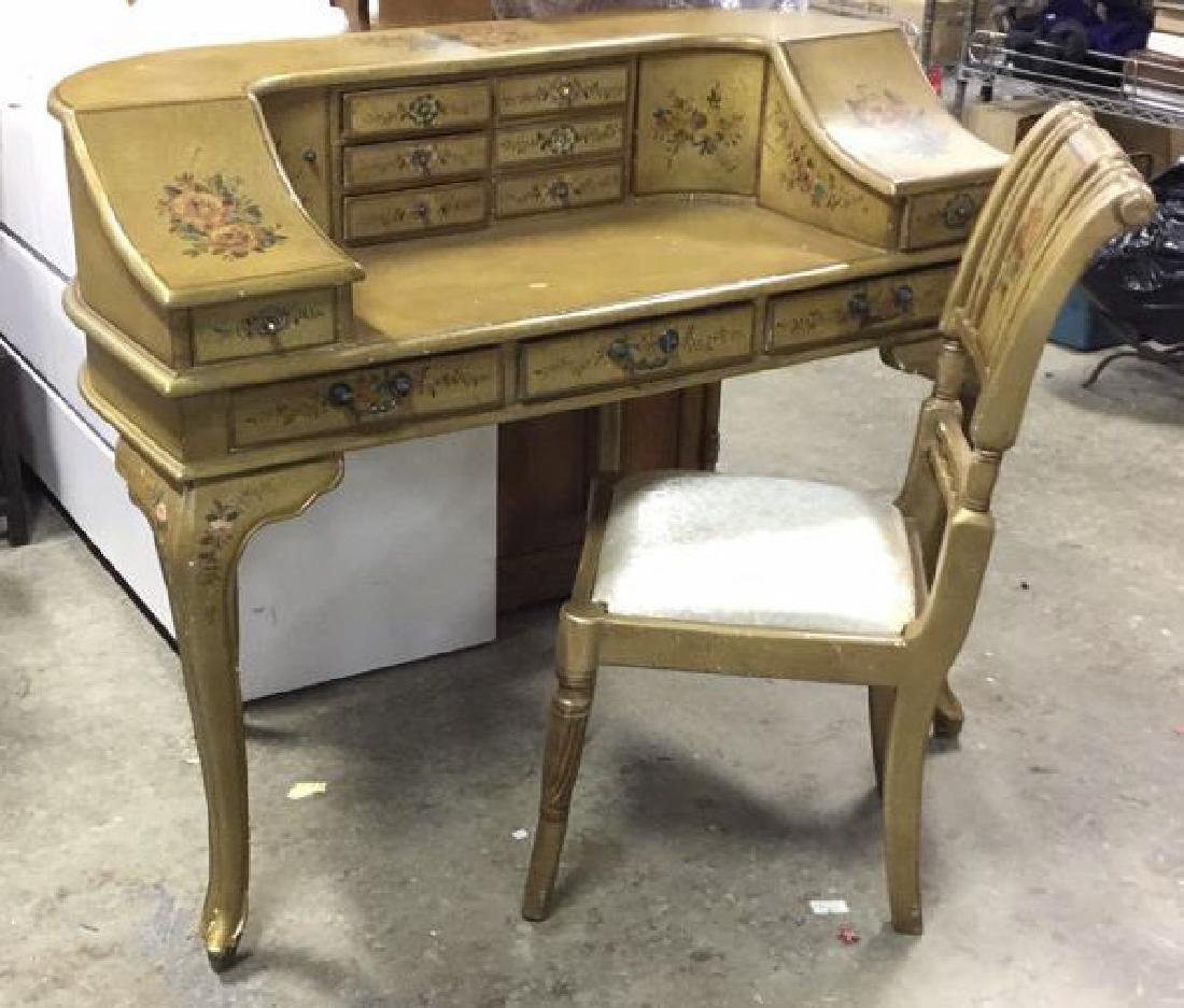 Country French Style Ladies Writing Desk w Chair