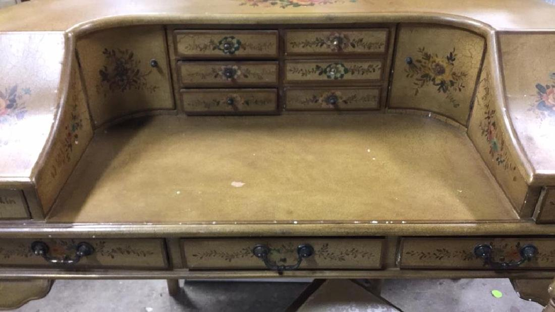 Country French Style Ladies Writing Desk w Chair - 3