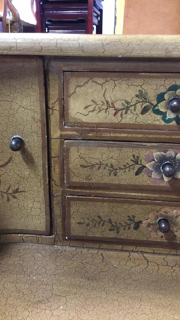 Country French Style Ladies Writing Desk w Chair - 8