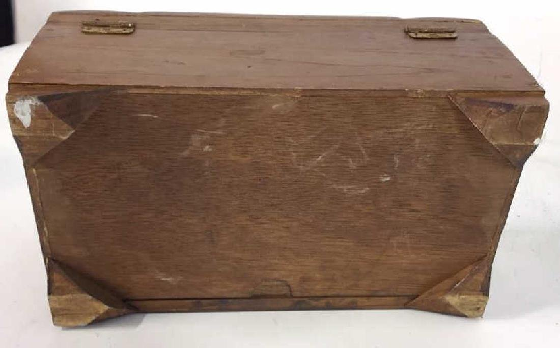 Vintage Carved Wood Asian Jewelry Box - 5
