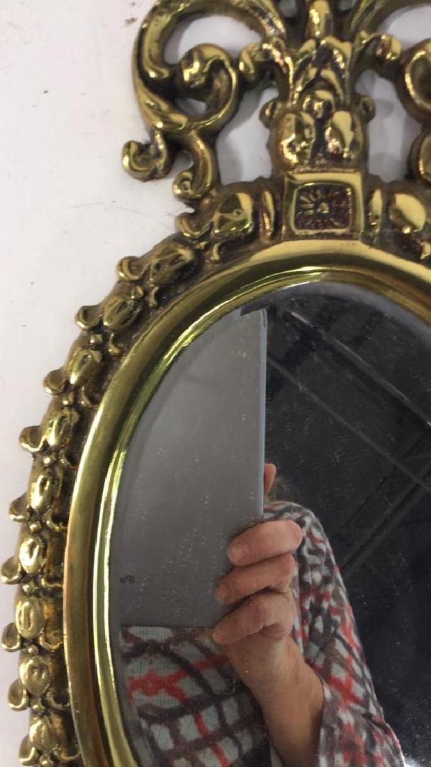 Vintage Brass, Crystal and Mirror Candelabra - 5