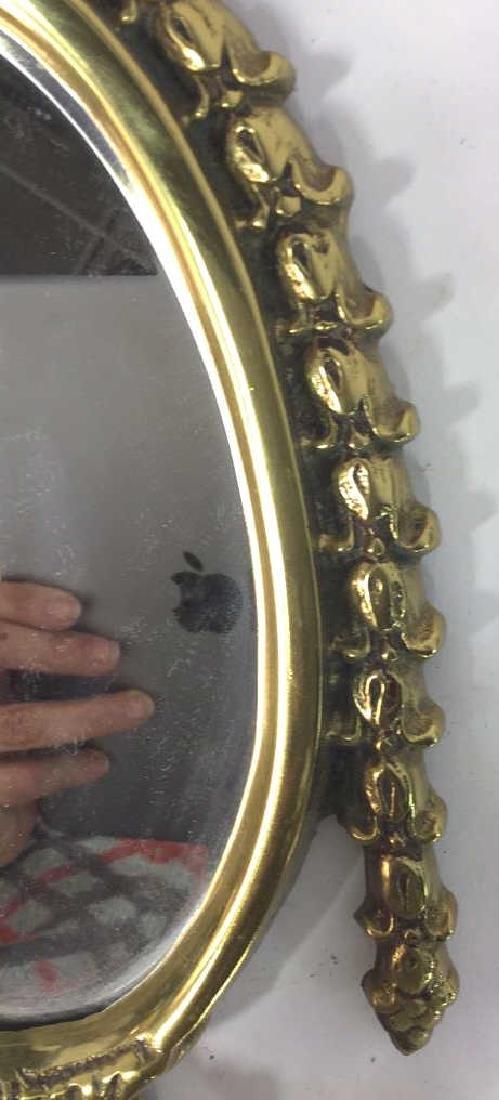 Vintage Brass, Crystal and Mirror Candelabra - 6