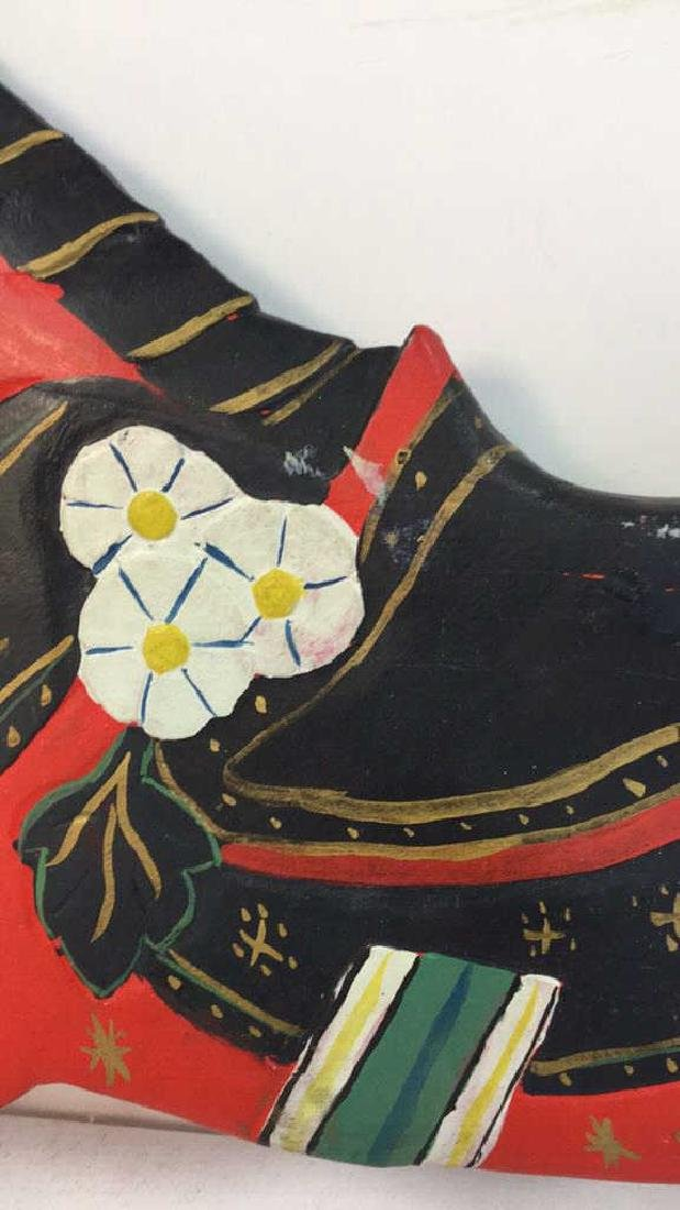 Folk Art Carved Painted Wood Horse - 5
