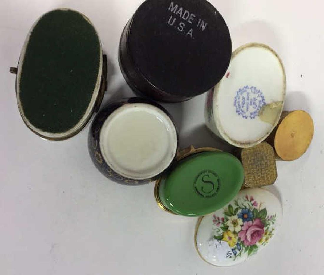Group Lot 7 Lidded Pill Boxes, Porcelain and more - 8