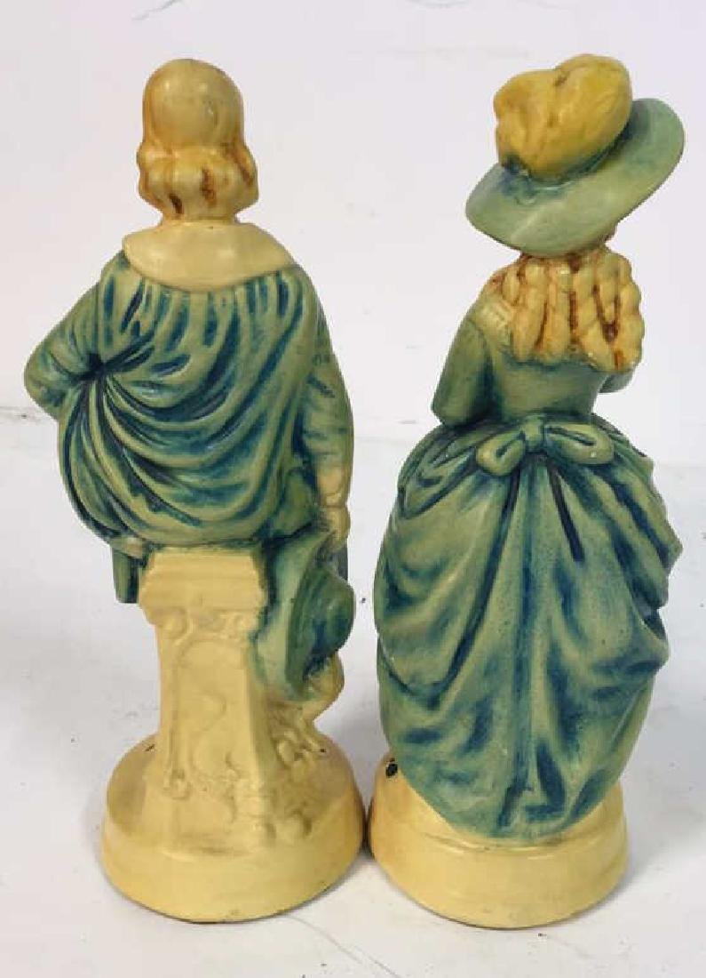 Pair Male Female Victorian Figurals - 4