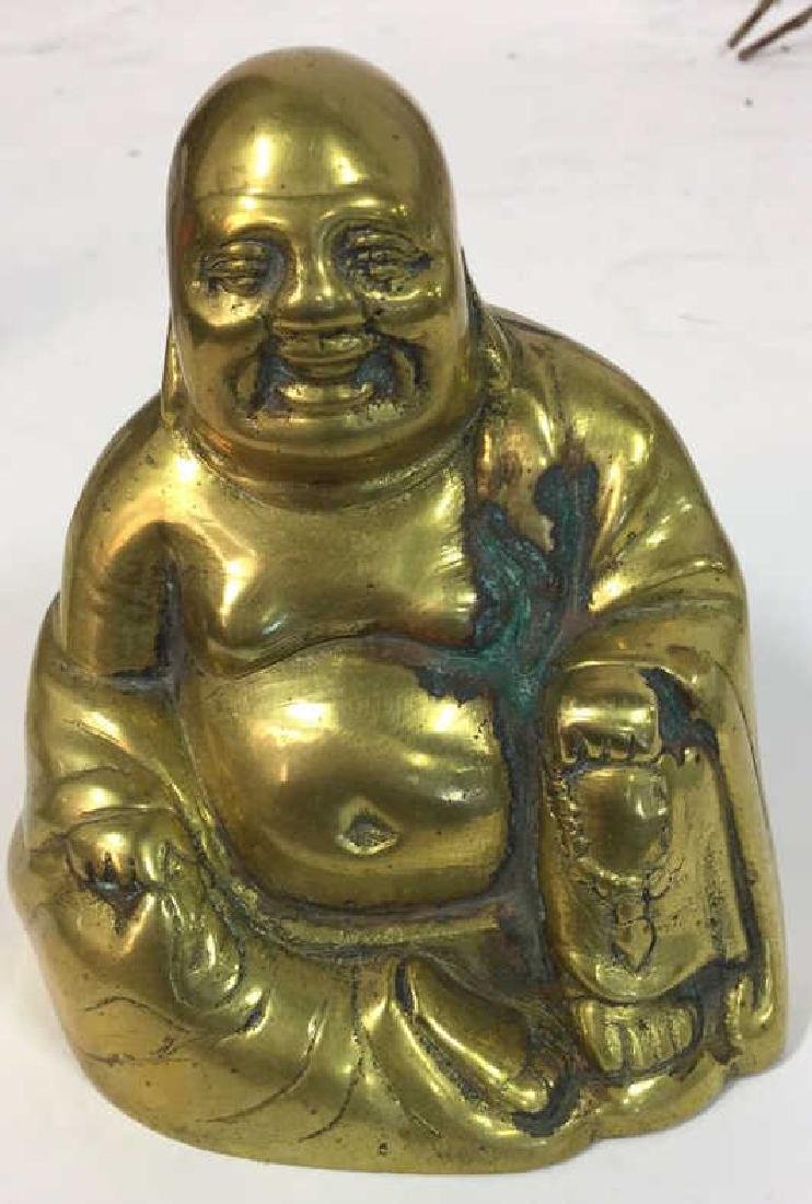 Brass Figural Buddha Happiness and Luck