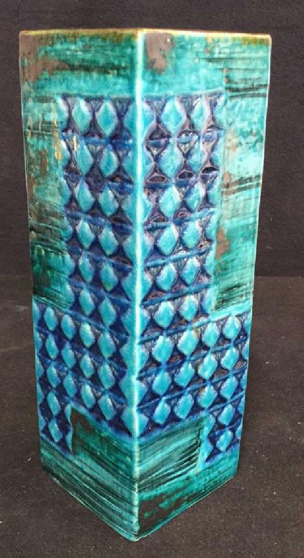 Hand Formed Turquoise Ceramic Vase