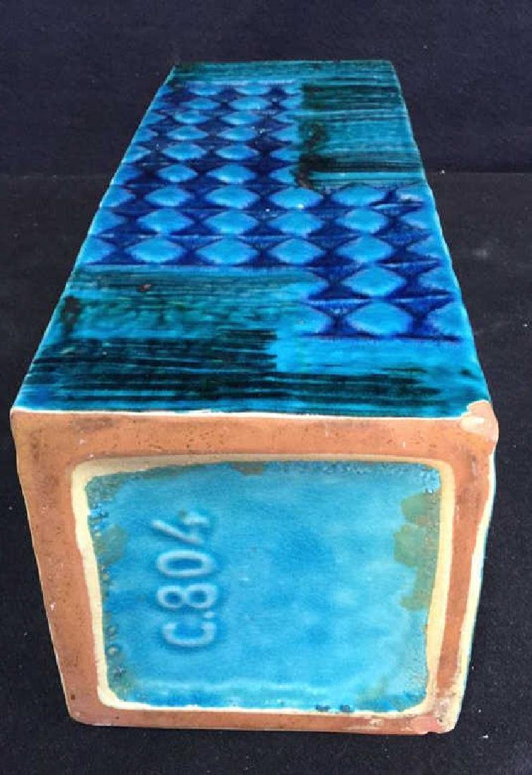 Hand Formed Turquoise Ceramic Vase - 6