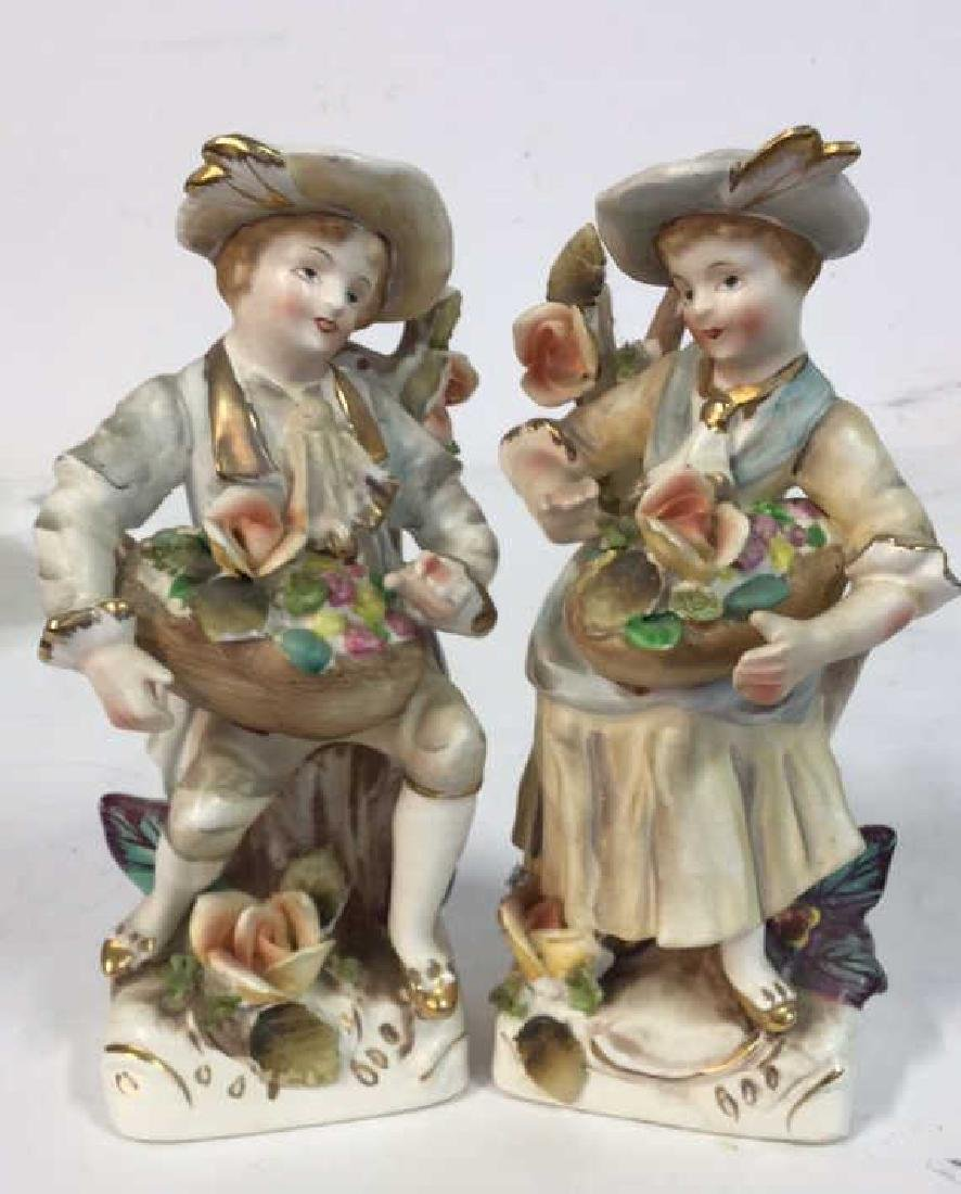 Pair Painted Bisque Figurals, TILSO