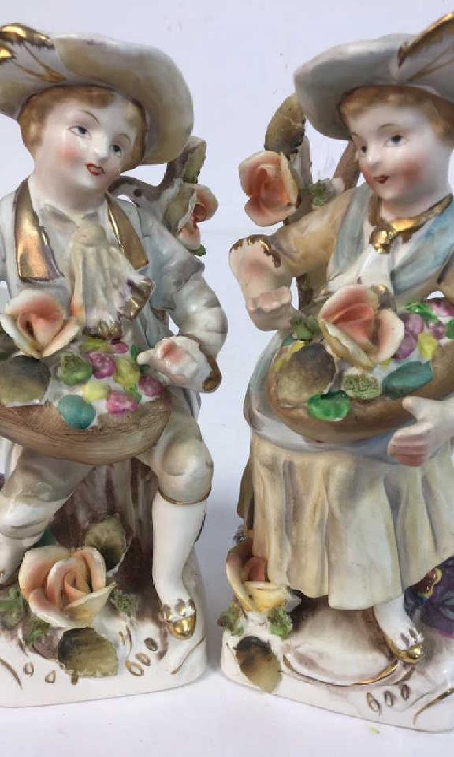 Pair Painted Bisque Figurals, TILSO - 2