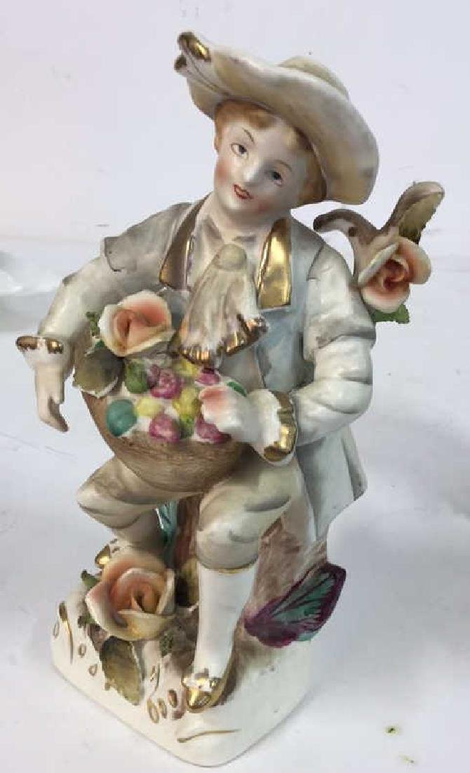 Pair Painted Bisque Figurals, TILSO - 3