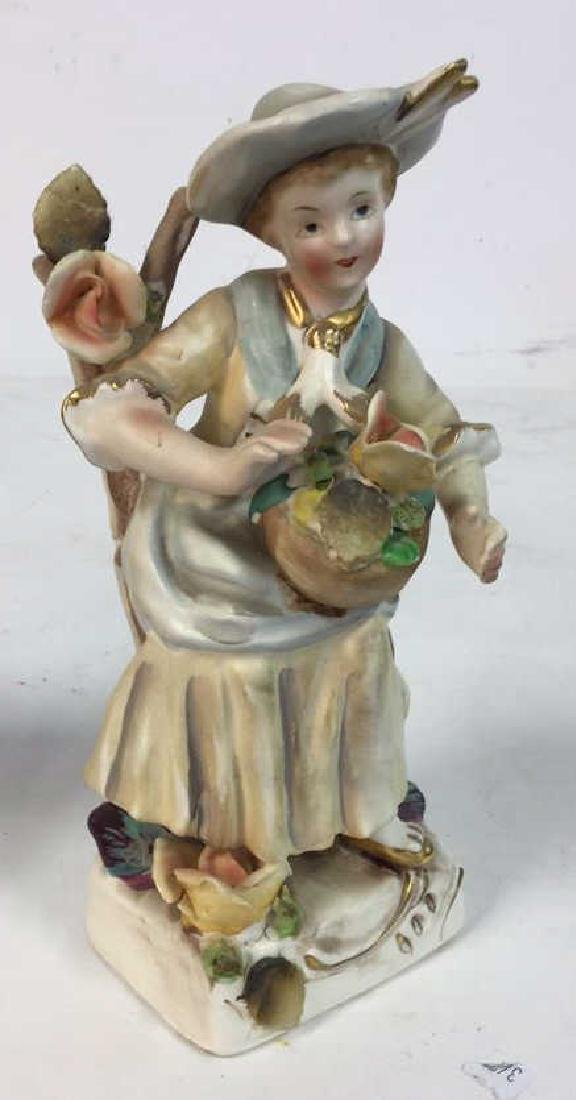 Pair Painted Bisque Figurals, TILSO - 4
