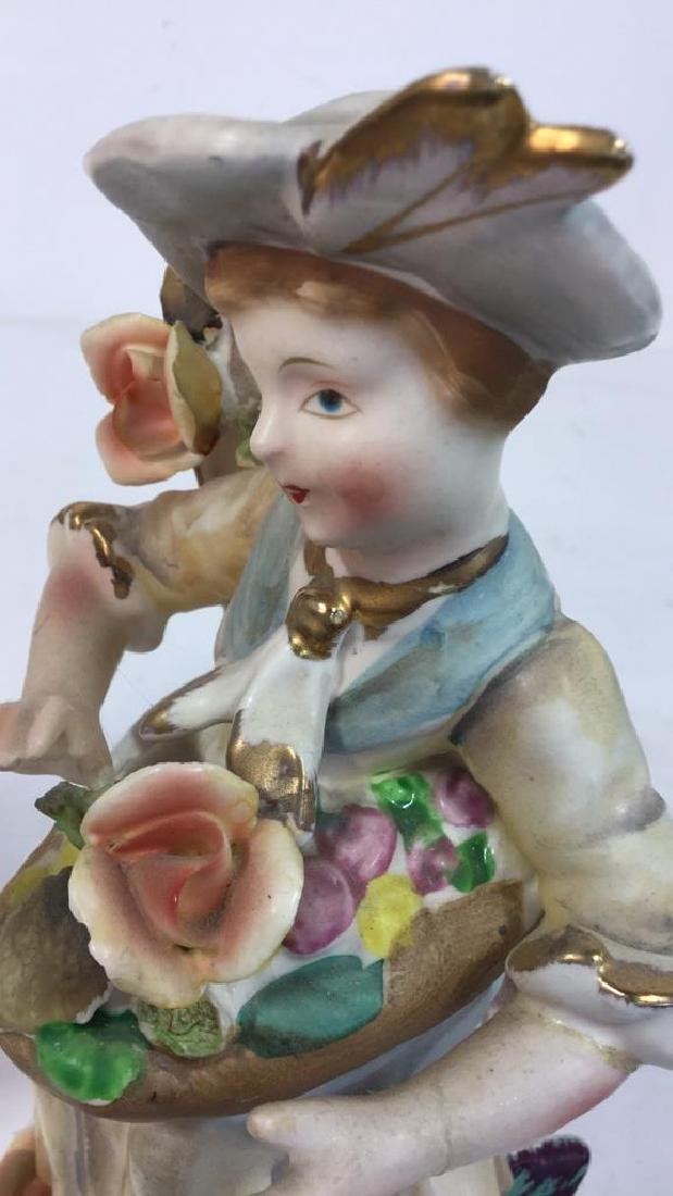 Pair Painted Bisque Figurals, TILSO - 7