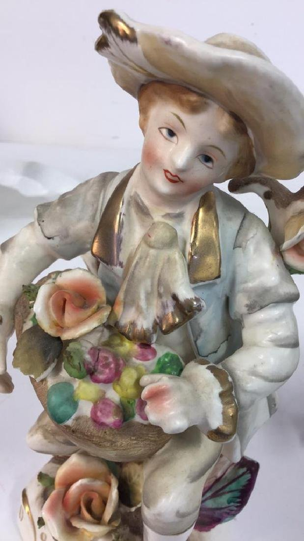 Pair Painted Bisque Figurals, TILSO - 8