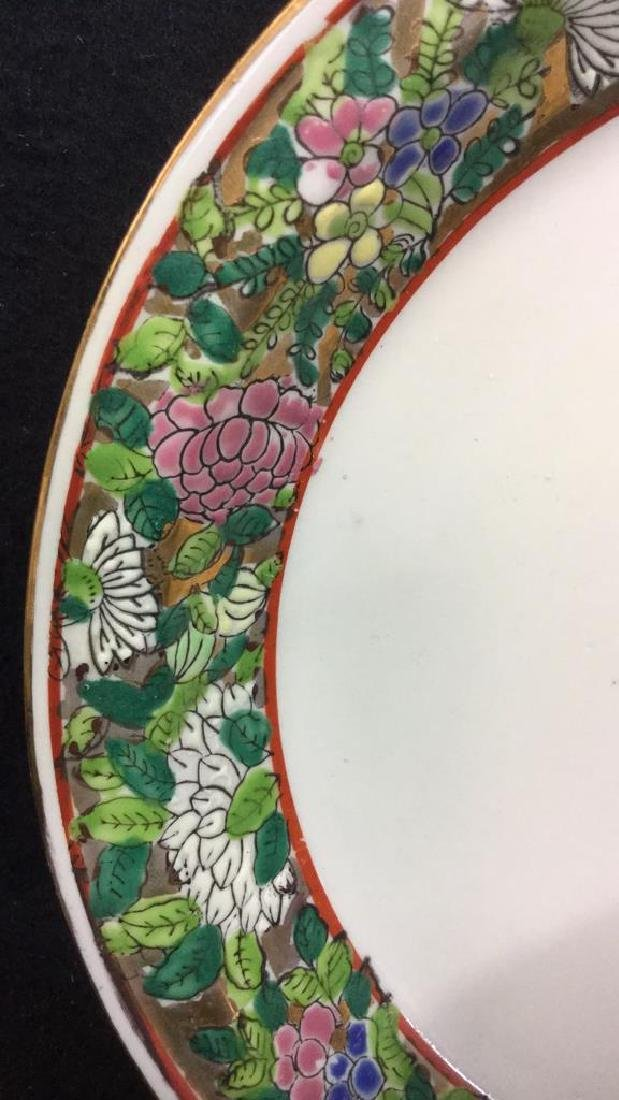 Lot 2 Painted Enamel Asian Planter And Coaster - 6