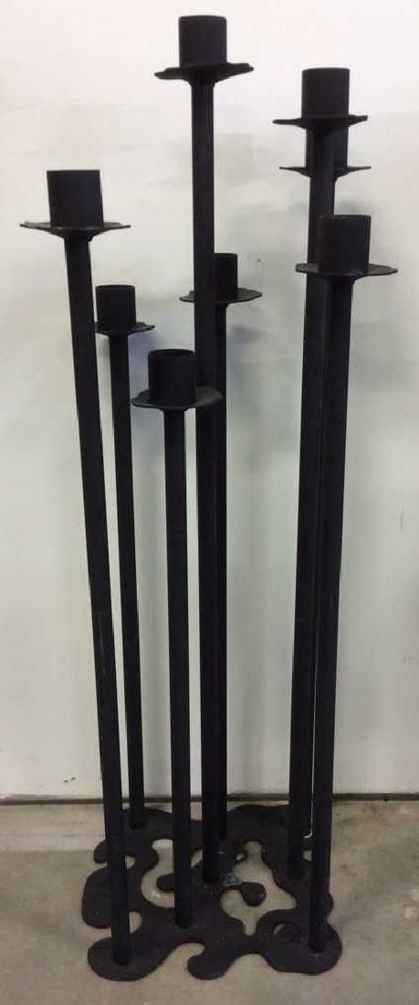 Contemporary Standing Metal Floor Candelabra - 2