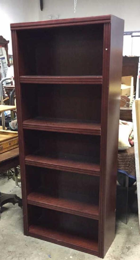 Mahogany Toned Wood Bookshelf