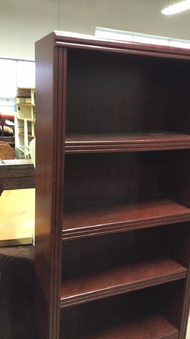 Mahogany Toned Wood Bookshelf - 4