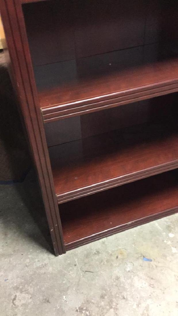 Mahogany Toned Wood Bookshelf - 5