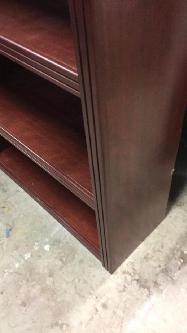 Mahogany Toned Wood Bookshelf - 6