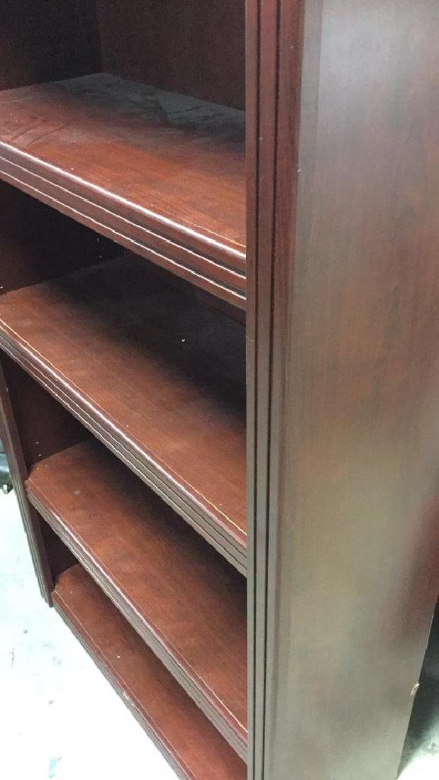 Mahogany Toned Wood Bookshelf - 7