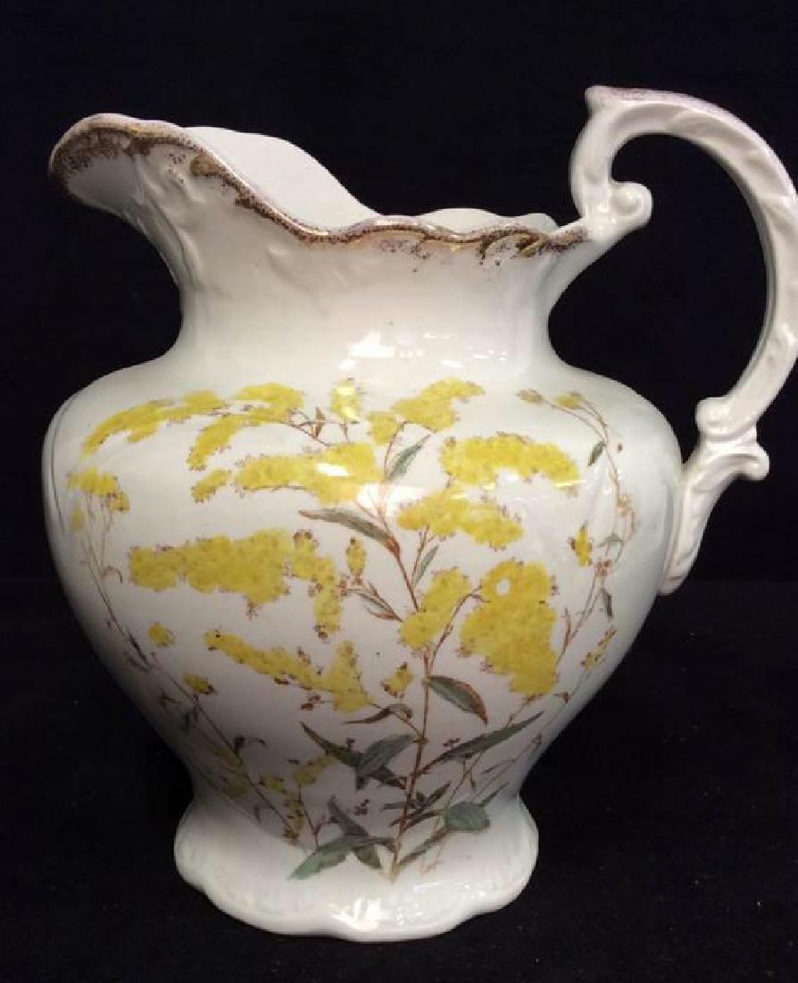 Vintage Porcelain Large Ewer Pitcher