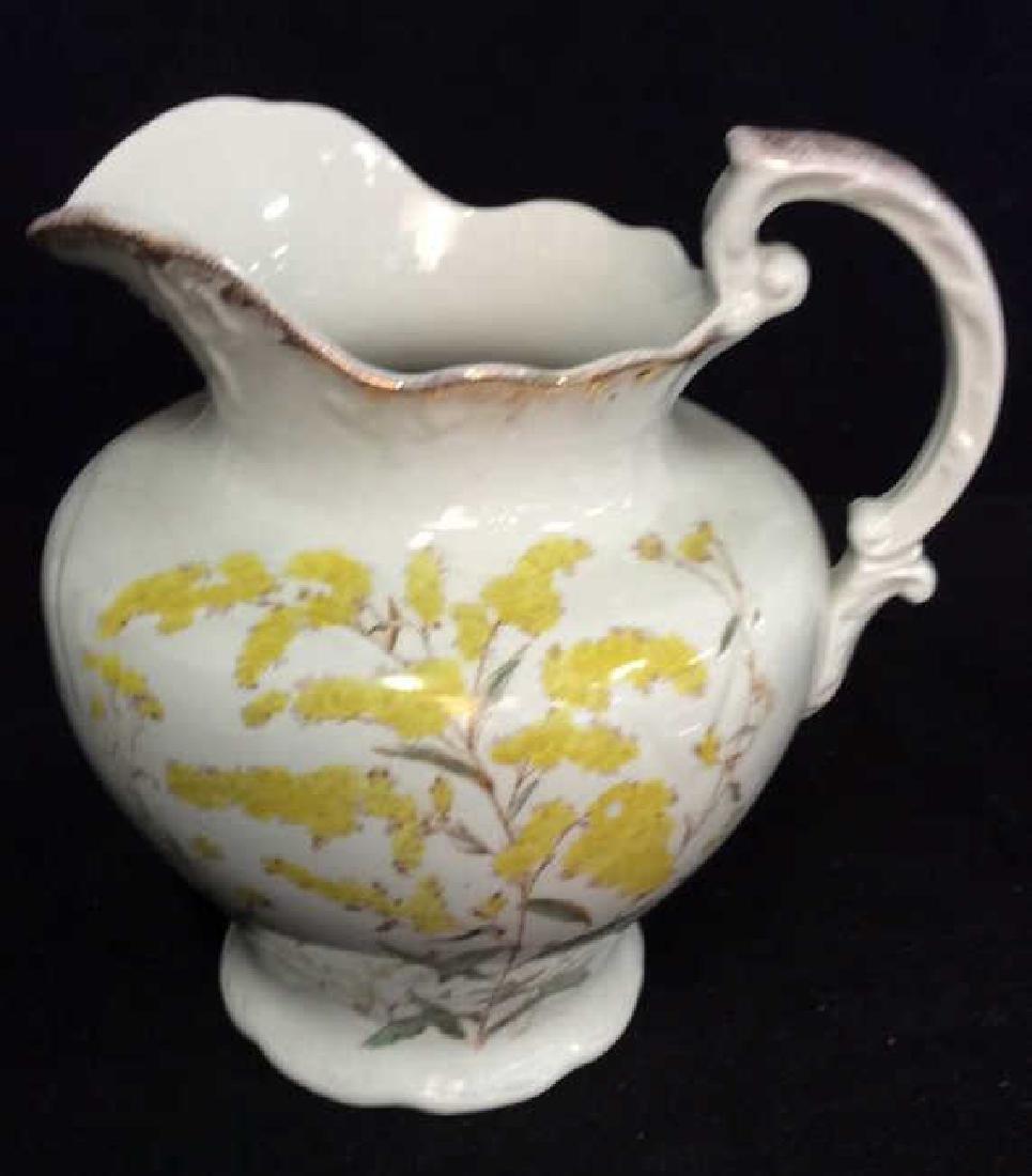 Vintage Porcelain Large Ewer Pitcher - 2