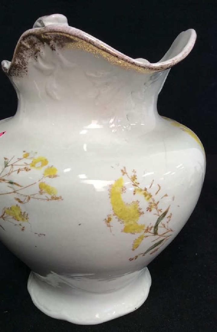 Vintage Porcelain Large Ewer Pitcher - 6