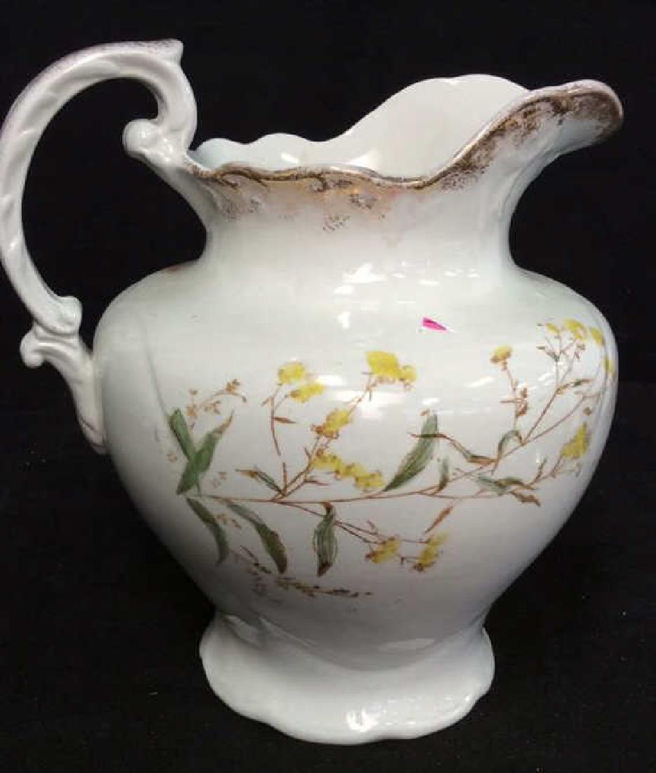 Vintage Porcelain Large Ewer Pitcher - 7