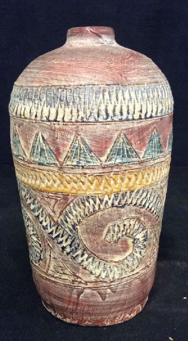 Terra Cotta Southwest Inspired Design Vase