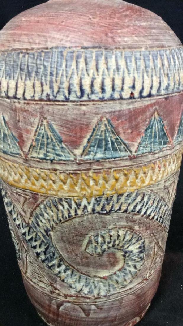 Terra Cotta Southwest Inspired Design Vase - 2