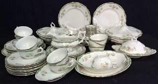 94 Pcs Vintage Porcelain Dinner Service Place Settings