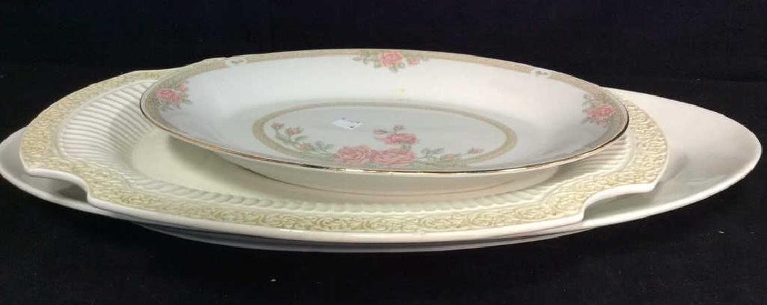 Lot three eramic Serving platters