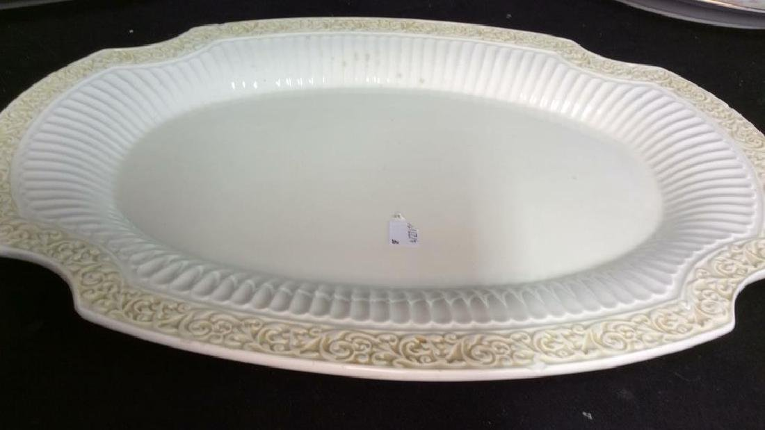 Lot three eramic Serving platters - 3