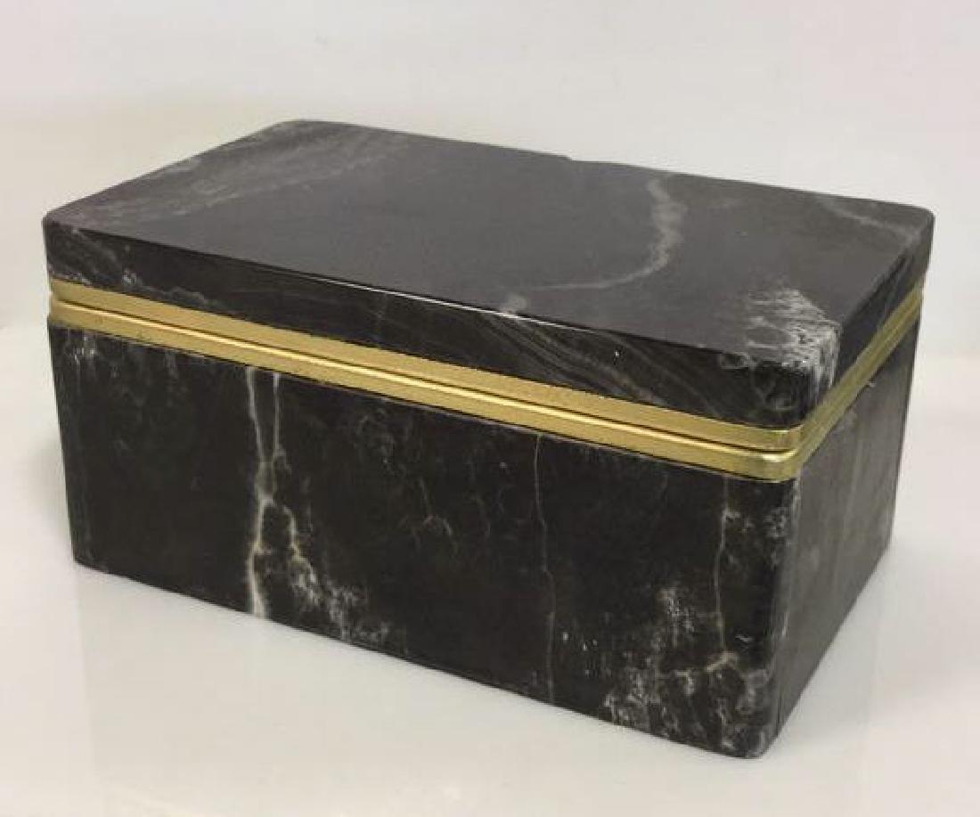 Chiarugi&C Italian Onyx Trinket Box - 2