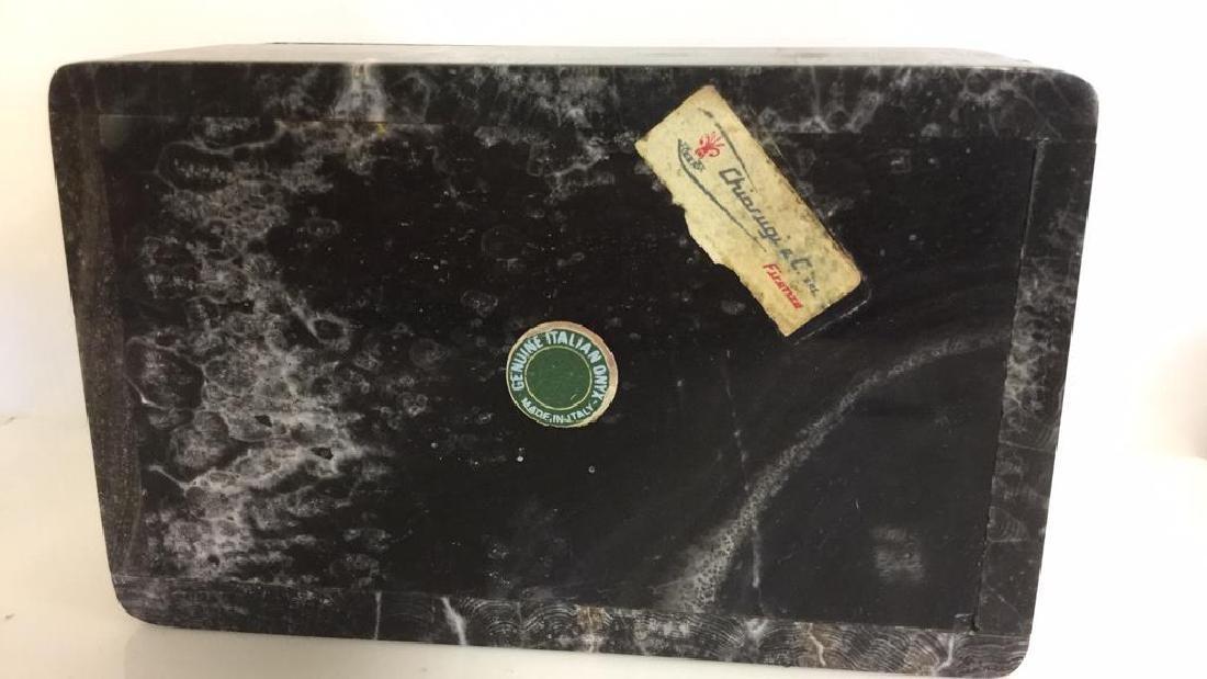 Chiarugi&C Italian Onyx Trinket Box - 8