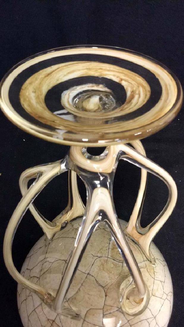 Hand Firmed Art Glass Sculptural Bowl - 10
