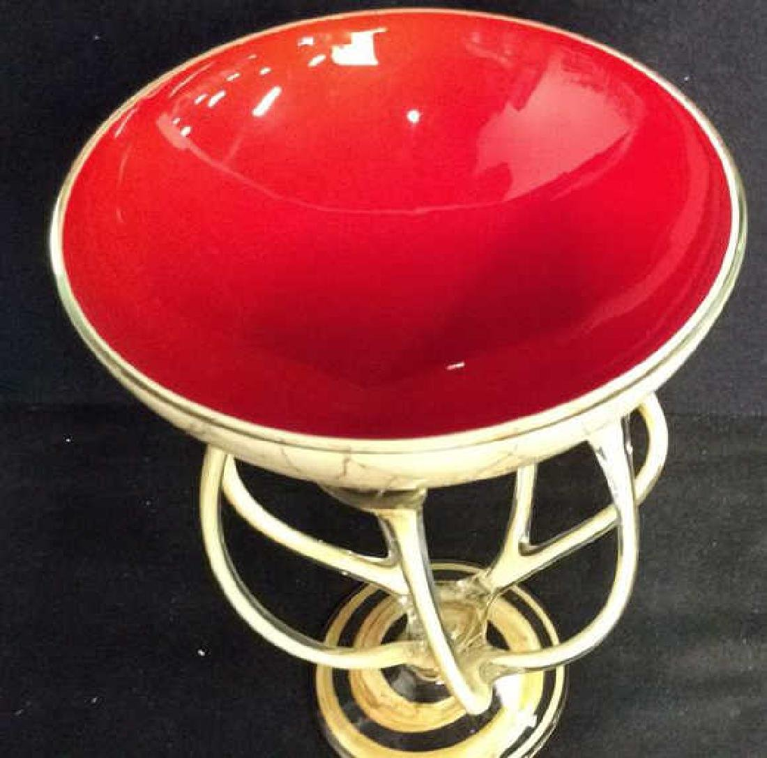 Hand Firmed Art Glass Sculptural Bowl - 6