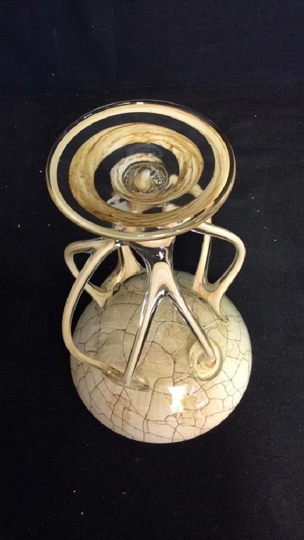 Hand Firmed Art Glass Sculptural Bowl - 8