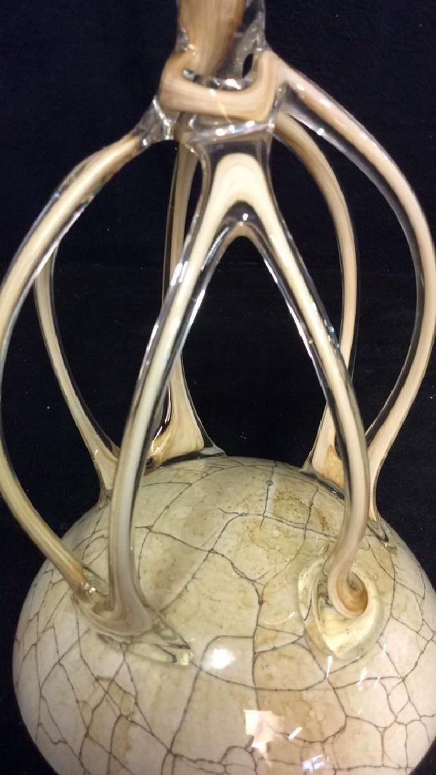 Hand Firmed Art Glass Sculptural Bowl - 9