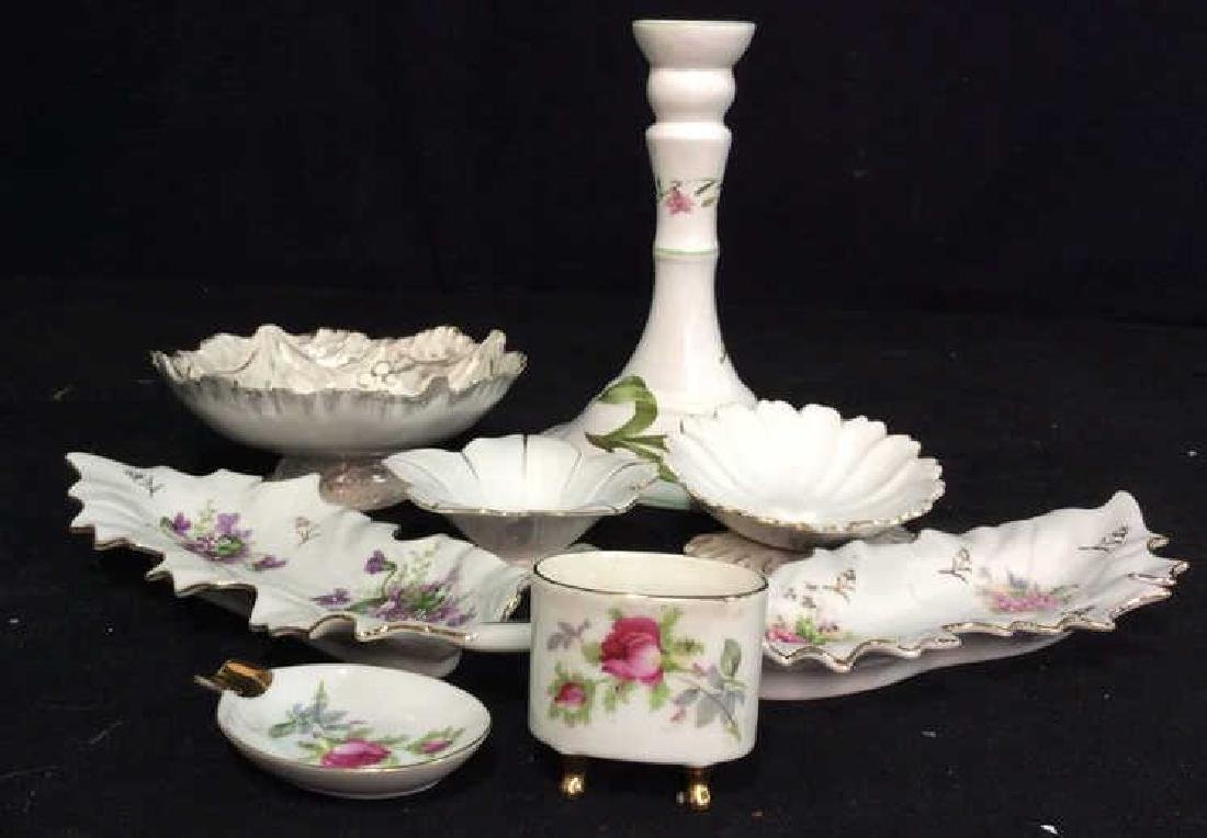 Group Lot Mixed Porcelain Table Tops