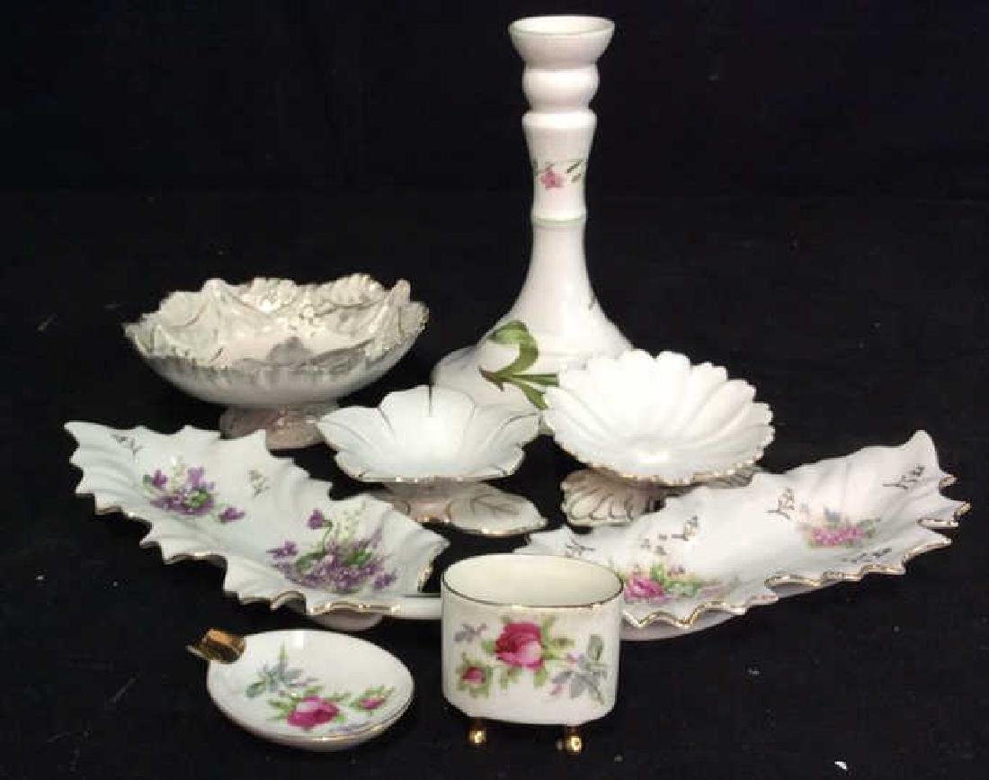 Group Lot Mixed Porcelain Table Tops - 2