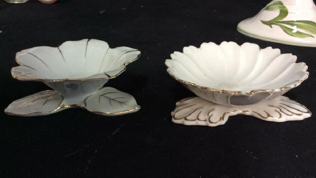 Group Lot Mixed Porcelain Table Tops - 7
