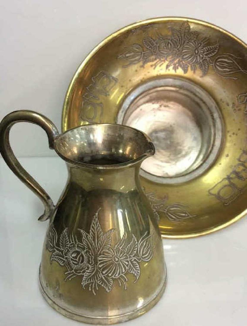 Pair Brass Toned Judaica Tabletop Accessories