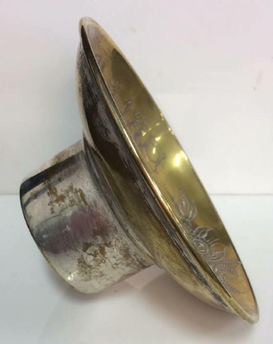 Pair Brass Toned Judaica Tabletop Accessories - 4