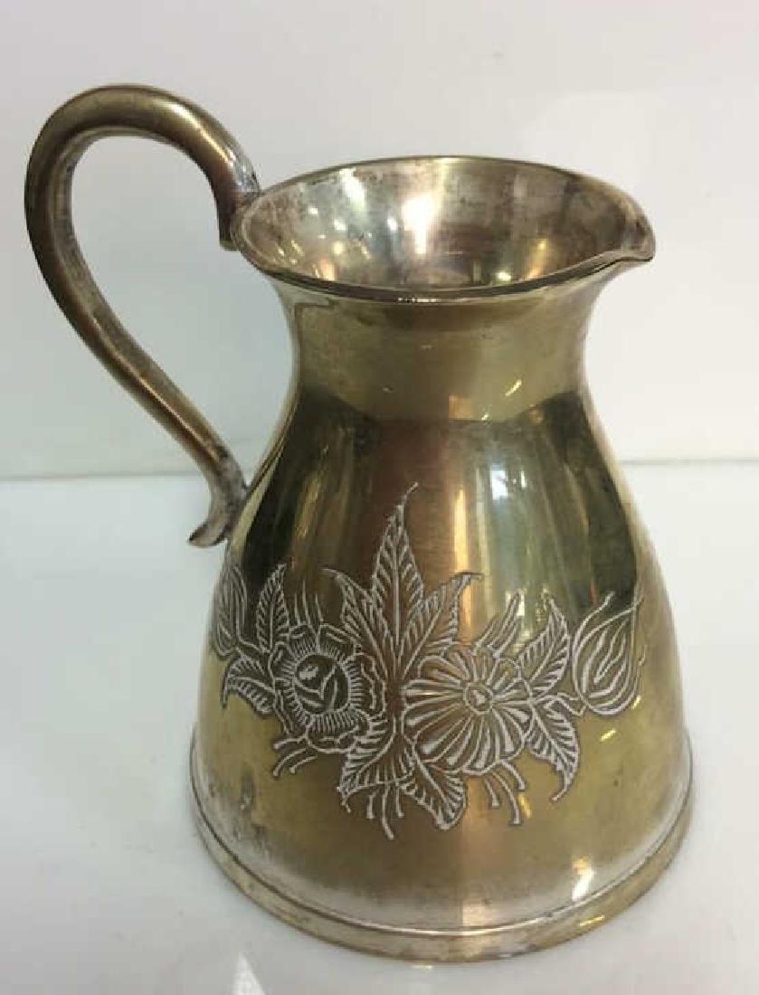 Pair Brass Toned Judaica Tabletop Accessories - 7