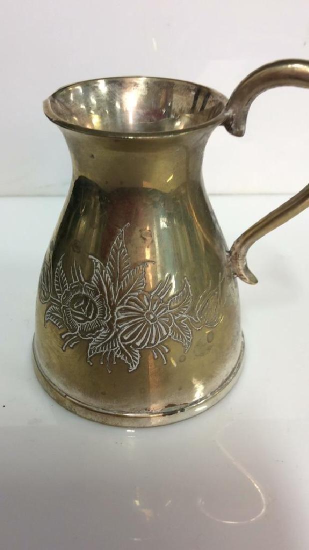 Pair Brass Toned Judaica Tabletop Accessories - 8