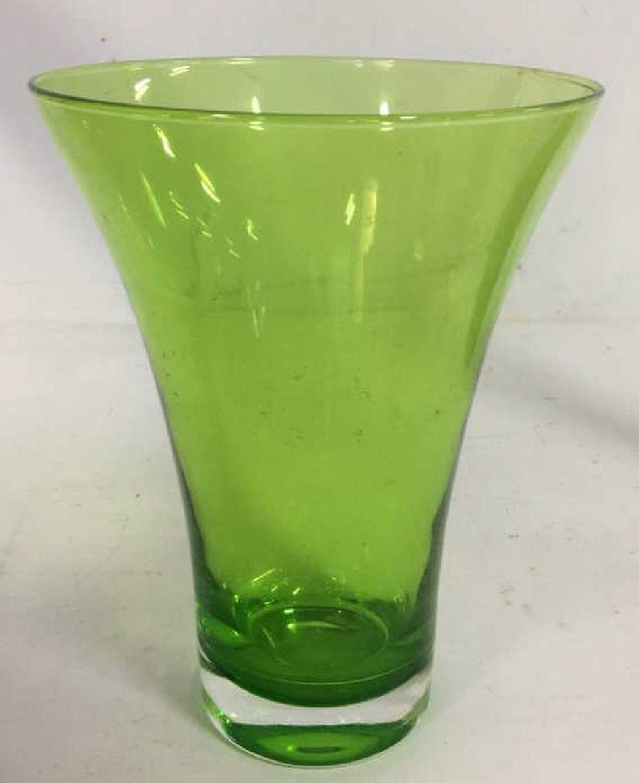 Green Toned Glass & Crystal Tabletop Accessories - 2